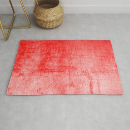 Distressed Coral Textured Canvas Rug