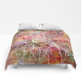 Dallas map 2 Comforters