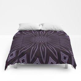 Eggplant and Aubergine Floral Design Comforters