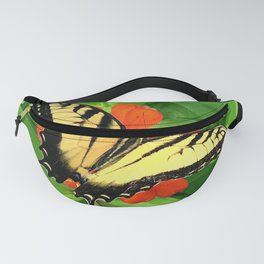 Butterfly on Zinnia 3 Fanny Pack