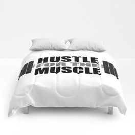 Hustle For The Muscle Comforters