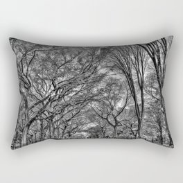 Central Black Rectangular Pillow