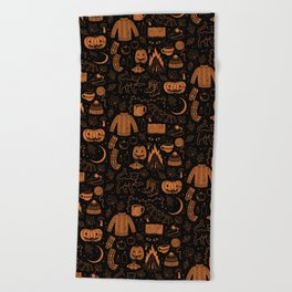Autumn Nights: Halloween Beach Towel
