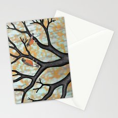 American robins at sunrise Stationery Cards