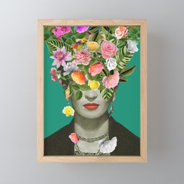 Frida Floral Framed Mini Art Print