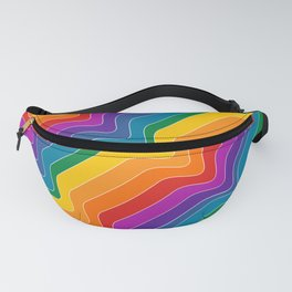 Rainbow Wave Fanny Pack