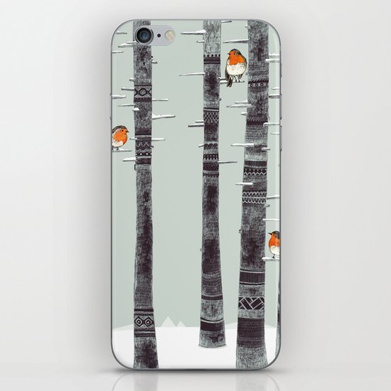 Robin Trees iPhone & iPod Skin