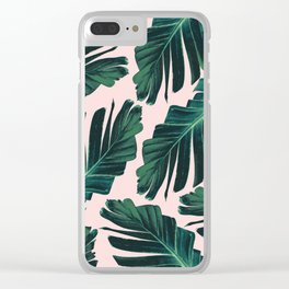Tropical Blush Banana Leaves Dream #1 #decor #art #society6 Clear iPhone Case