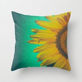 Sunflower vintage Throw Pillow