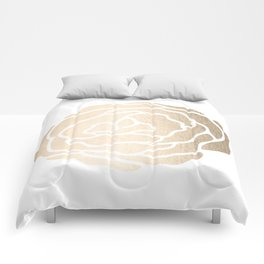 Rose White Gold Sands on White Comforters