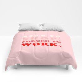 Born to Shop Shopaholic Comforters