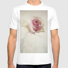 A Flower for You [Textured] MEDIUM White Mens Fitted Tee