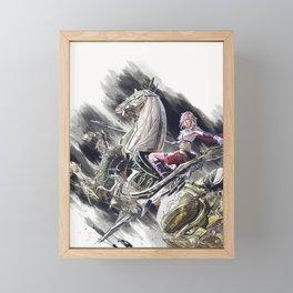 final fantasy art 7 Framed Mini Art Print