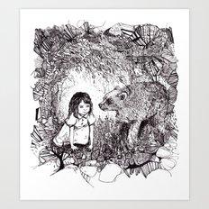 My Brother's a Bear Art Print
