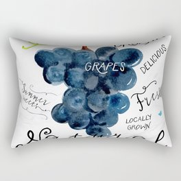 Watercolor grapes Rectangular Pillow