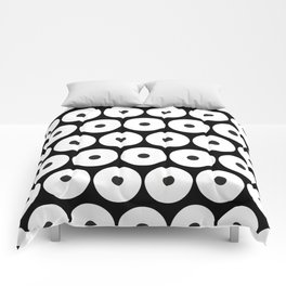 Navajo Black and White Pattern: Circle as a union Comforters