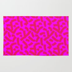 Hot Pink Cheese Doodles /// www.pencilmeinstationery.com Rug