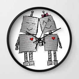 Lovebots Doodle Wall Clock