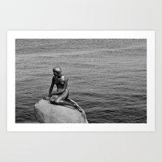 Little Mermaid, Copenhagen, Denmark. Art Print