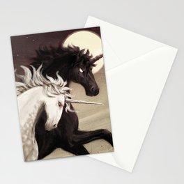 Full Moon Unicorns Stationery Cards