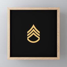 Staff Sergeant (Black & Gold) Framed Mini Art Print