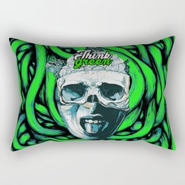 Think Green Rectangular Pillow