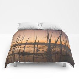 Sunset, Yellowstone National Park Comforters
