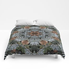 Spruce Cones And Needles Kaleidoscope K4 Comforters