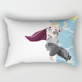 The man who has no imagination has no wings. Rectangular Pillow