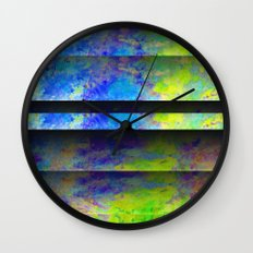 Yellow Color Blinds Wall Clock