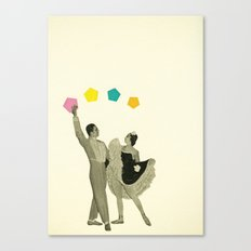 Throwing Shapes on the Dance Floor Canvas Print