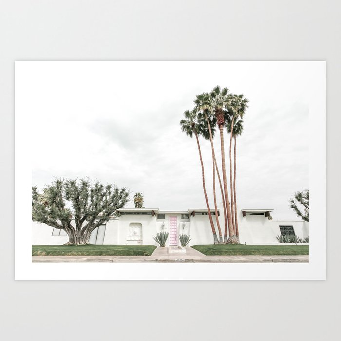 That Pink Door House Palm Springs,California Art Print