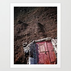 Knock on Rock (perspective switch) Art Print