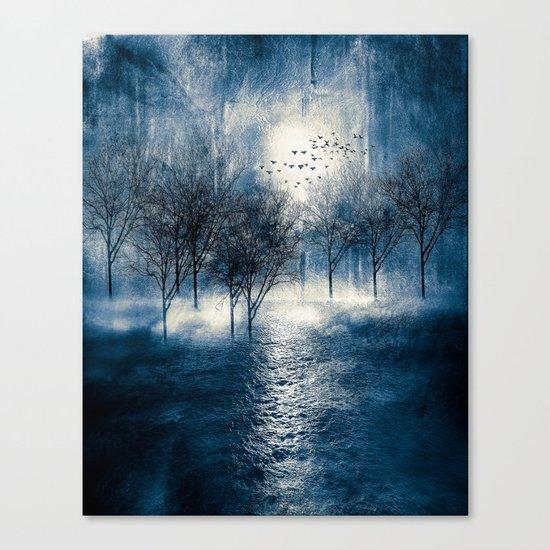 Paisaje y color (azul) Canvas Print