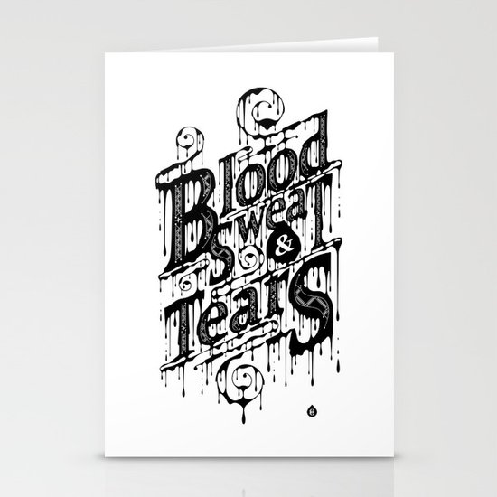 Blood, Sweat, & Tears Stationery Cards
