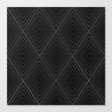 Diamonds (Black) Canvas Print