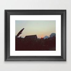 Vang Vieng Sunset Framed Art Print