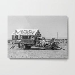 REPENT Jesus Truck Salvation Mountain Metal Print