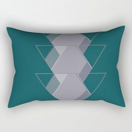 Three Triangles Rectangular Pillow