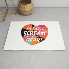Please Scream Inside Your Heart Rug
