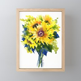 Colors of Summer, Sunflowers, Country style french country design Framed Mini Art Print