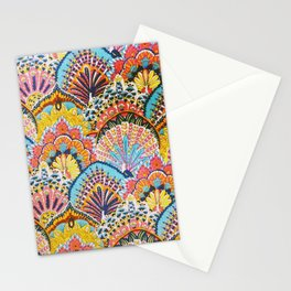 Vintage Japanese Colorful Peacock Pattern Stationery Cards