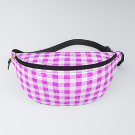 Gingham Pink and White Pattern Fanny Pack