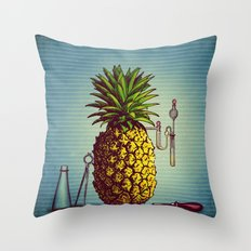 The Pineapple Experiment Throw Pillow