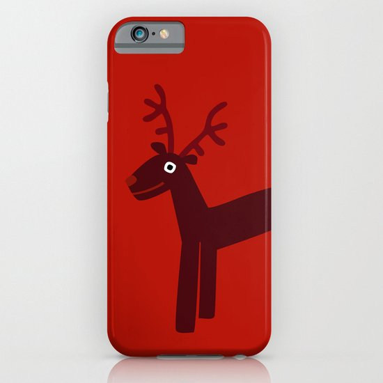Reindeer-Red iPhone & iPod Case