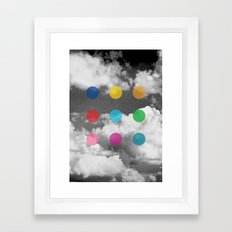 Storm Clouds + Colored Dots Framed Art Print