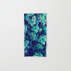 Plants of Blue And Green Hand & Bath Towel