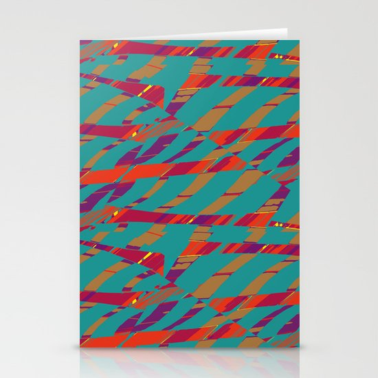 TORN STRIPES Stationery Cards