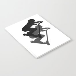 Scooter Boy - Stunt Scooter #5 Silhouette Notebook