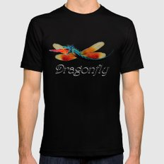 Dragon fly X-LARGE Mens Fitted Tee Black